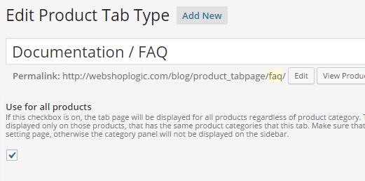 WooCommerce Tustom Tab Slug