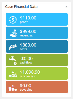 WooCommerce Financial plugin-Filogy Data screen shows cash flow