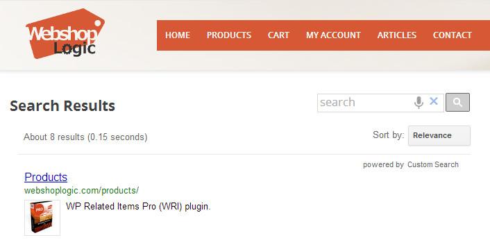 Free plugin for integrating Google Custom Search box into your WordPress website.