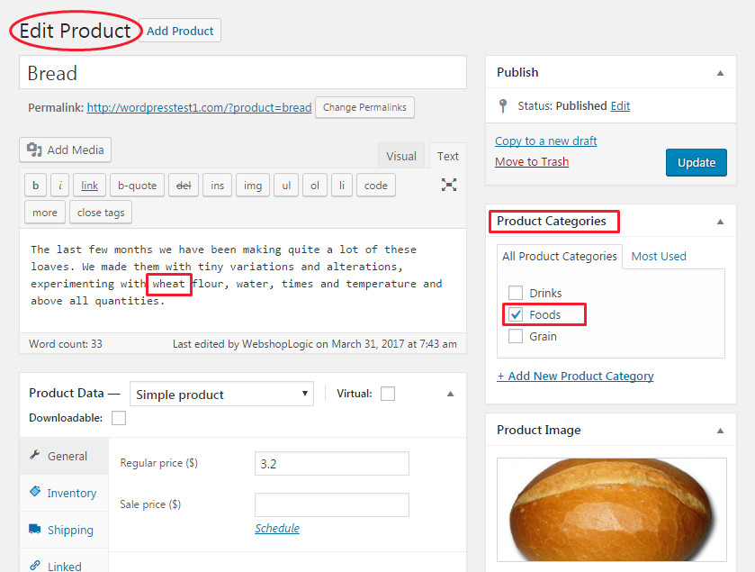 Use common words in titles, content. Offer related products and posts to your WP blog posts.